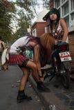 Ados de punk et de skinhead sur le marché de Chatuchak Photographie stock
