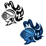 Adoubez le symbole, vue de côté, dans noir et polychrome, illustration de vecteur illustration stock