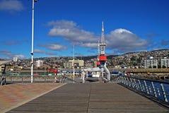 Ładowniczy dok w Chile zdjęcie royalty free