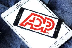 ADP, logotipo do processo de dados automático Fotografia de Stock Royalty Free
