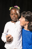 Adption and new multiracial families Stock Image