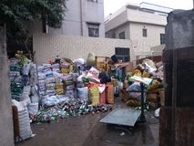 Adquisición de los lugares del almacenamiento de los materiales de desecho Imagen de archivo libre de regalías