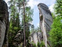 AdrÅ ¡ pach-Teplice skały Obrazy Royalty Free