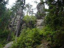 Adršpach特普利采岩石 库存图片
