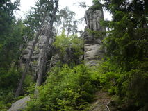 Adršpach-Teplicefelsen stockbilder