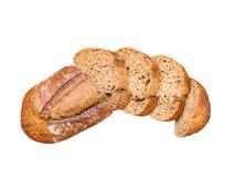 Adra pokrajać chlebowego bochenka odgórny widok Fotografia Royalty Free