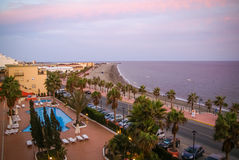 Adra at sunset, Andalusia, Spain Stock Images