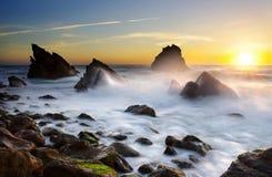 adraga海滩 库存图片