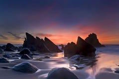 Adraga beach stock photography