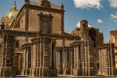 Adrano Mother Church of Santa Maria Assunta - Sicily royalty free stock photo