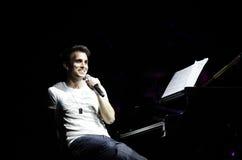 Adreßpublikum Klavier-Knall Zade Dirani bei Bahrain Stockbild