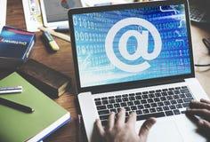 Adreßverbindungs-Kontakt-Gebiets-Zeichen-Technologie-Konzept Lizenzfreies Stockfoto