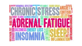 Adrenal Fatigue Word Cloud royalty free illustration