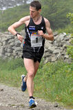 Adrenalin cup 2010, runner Roman Skalsky, 2010. HILL LYSA HORA IN BESKYDY, CZECH REPUBLIC - JUN 24: Alone runner Roman Skalsky a few meters to finish in race Stock Image