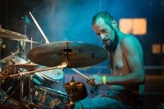 Adrenalin Dose live at Pollo Metal Fest BG. Bergamo, Italy. 26th August 2017. rock band Adrenalin Dose performs at the Pollo Metal fest. Brambilla Simone Royalty Free Stock Photos