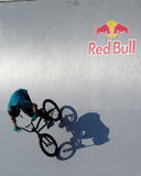 Adrenalin Games in Moscow, Russia,. Moscow, Russia - July 08, 2012: Unidentified athlete in BMX competitions during Adrenalin Games. Adrenalin Games is the major Stock Photos
