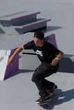 Adrenalin Games in Moscow, Russia. Moscow, Russia - July 08, 2012: Unidentified athlete in skateboarding competition during Adrenalin Games in Moscow. Adrenalin Stock Photo