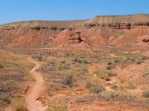 Adrenalin rusar från mountainbikeslingan i Vernal, Utah arkivbilder