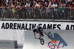 Adrenalin-Spiele in Moskau, Russland, Stockbild