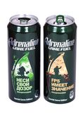Adrenaline Game Fuel Special Game Edition. Novyy Urengoy, Russia - May 14, 2019: Aluminium cans of the Adrenaline Game Fuel Special Game Edition isolated over stock images