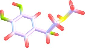 Adrenaline molecule Stock Photo