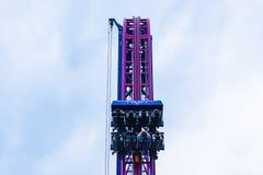 Adrenaline peak ride in Oaks Park, Portland, Oregon. stock photography
