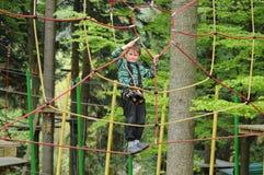 Adrenaline rope playground Stock Photography