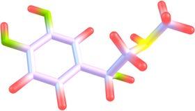 Adrenalinmolekyl Arkivfoto