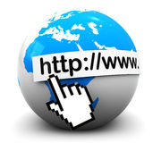 adresów internety Zdjęcia Stock