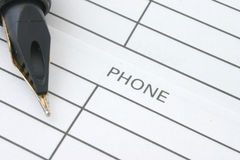 Adres & Telefoonboek stock afbeelding