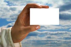 Adreskaartje Royalty-vrije Stock Fotografie