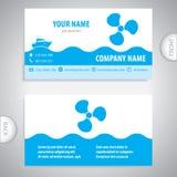 Adreskaartje - Bootpropeller - maritieme symbolen vector illustratie