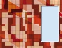 Adreskaartje met abstracte texture1 royalty-vrije illustratie