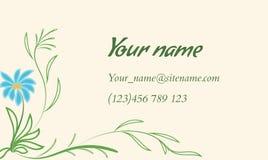Adreskaartje met bloemenornament in Indische stijl Stock Foto