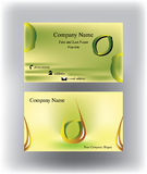 Adreskaartje met dalingsembleem en citroenvorm Royalty-vrije Stock Afbeelding