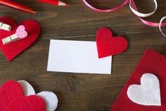 Adreskaartje met een rode heartprepare royalty-vrije stock foto