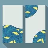 Adreskaartje met patroon dat van de krabbel het bloemencirkel wordt geplaatst royalty-vrije illustratie