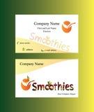Adreskaartje met smoothiesembleem Stock Afbeelding