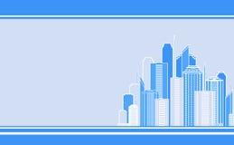 Adreskaartje met stadslandschap Royalty-vrije Stock Afbeeldingen