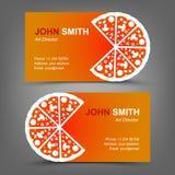 Adreskaartje. Pizza Stock Afbeelding