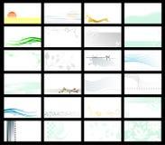 Adreskaartje - vectorinzameling Stock Foto's