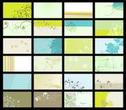 Adreskaartje - vectorinzameling Royalty-vrije Stock Foto's