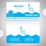 Adreskaartje - visserijlokmiddelen - zeevaartsymbool royalty-vrije illustratie