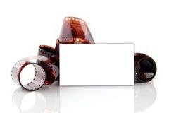 Adreskaartje voor fotograaf Stock Foto's