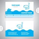 Adreskaartje - vrij duiken - rondvaart royalty-vrije illustratie