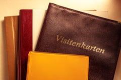 Adreskaartjehouder en andere notitieboekjes Stock Afbeelding