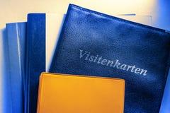 Adreskaartjehouder en andere notitieboekjes Royalty-vrije Stock Fotografie