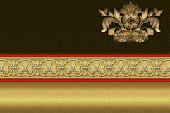 Adreskaartjemalplaatje. Gouden achtergrond. Royalty-vrije Stock Foto