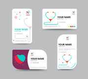 Adreskaartjemalplaatje, het ontwerp van de adreskaartjelay-out, vectorillu Stock Foto's