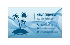 Adreskaartjemalplaatje voor reisbureau Collectieve Identity Vector illustratie Stock Foto